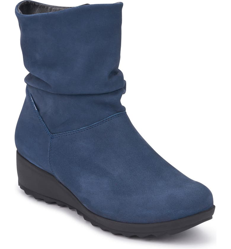 MEPHISTO Agatha Bootie, Main, color, JEANS BLUE LEATHER