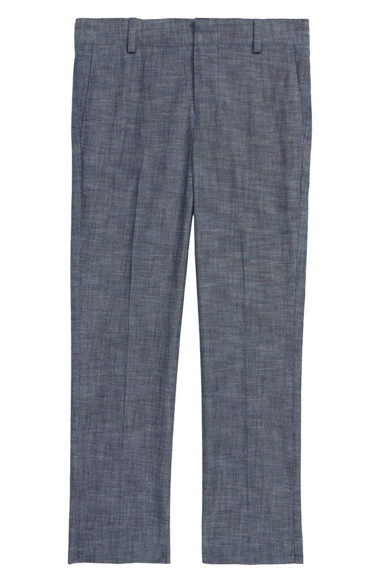 NORDSTROM Chambray Dress Pants, Main, color, 450