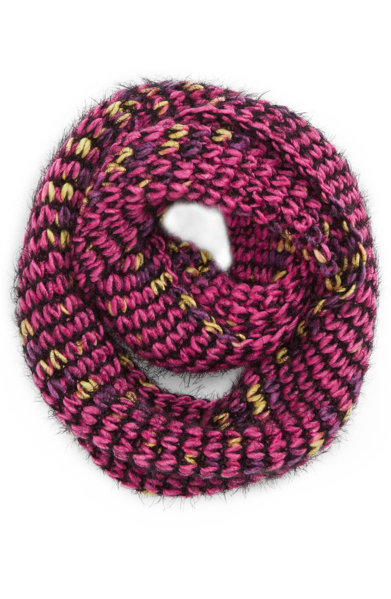 SAACHI Knit Infinity Scarf, Main, color, 650