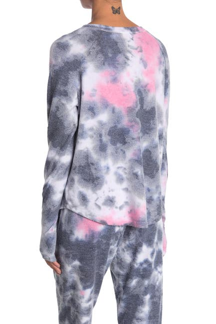 Image of Theo and Spence Tie Dye Thumbhole Pullover