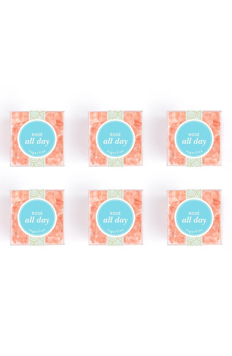 SUGARFINA Set of 6 Rosé All Day Candy Cubes, Main, color, ROSE