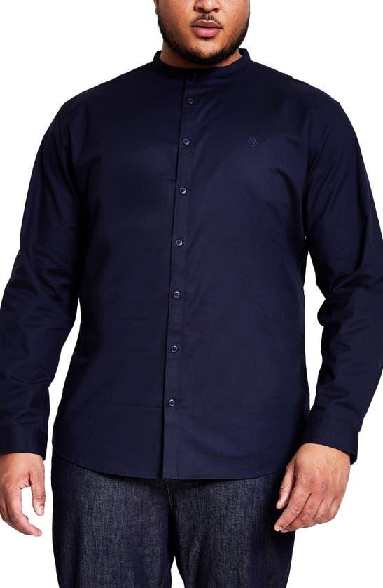 River Island Shirts GRANDAD OXFORD REGULAR FIT STRETCH BUTTON-UP SHIRT