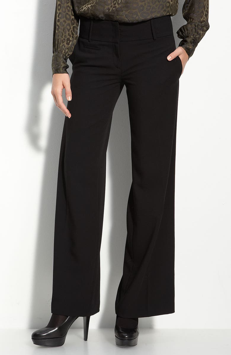 BCBGMAXAZRIA Wide Leg Trousers, Main, color, 001
