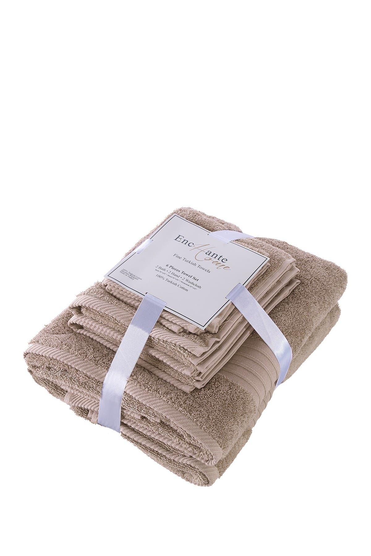 Image of ENCHANTE HOME Luna Turkish Towel 6-Piece Set