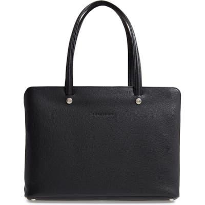 Longchamp Le Foulonne Leather Tote - Black