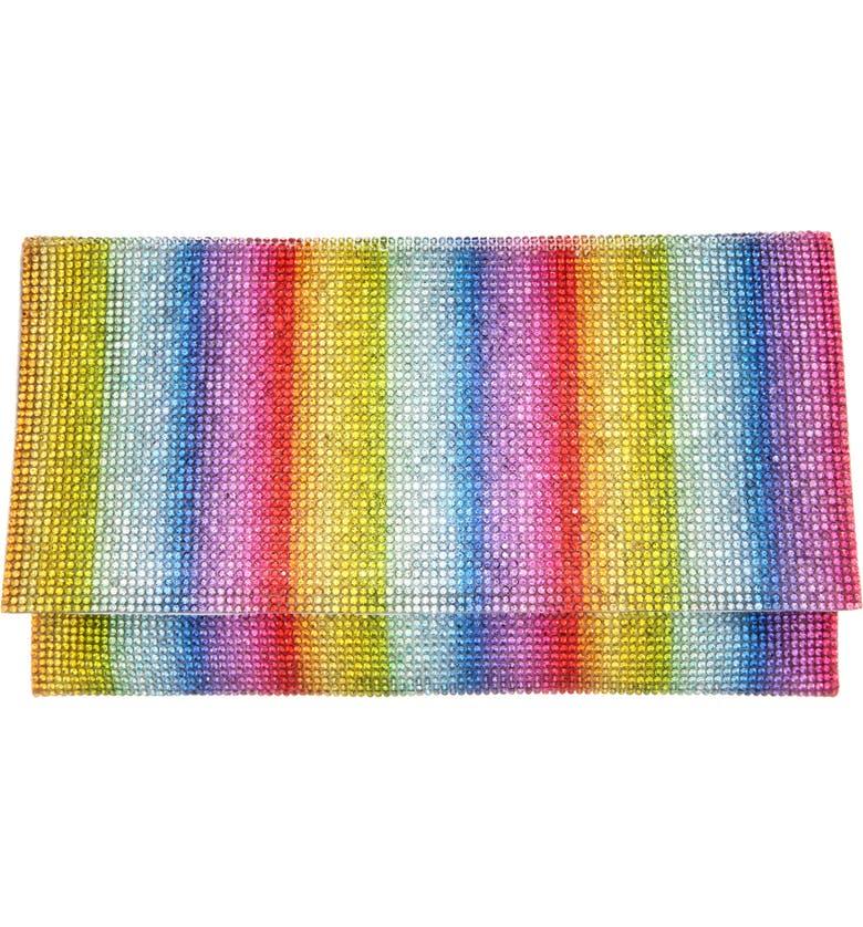 NINA Rainbow Crystal Clutch, Main, color, 700