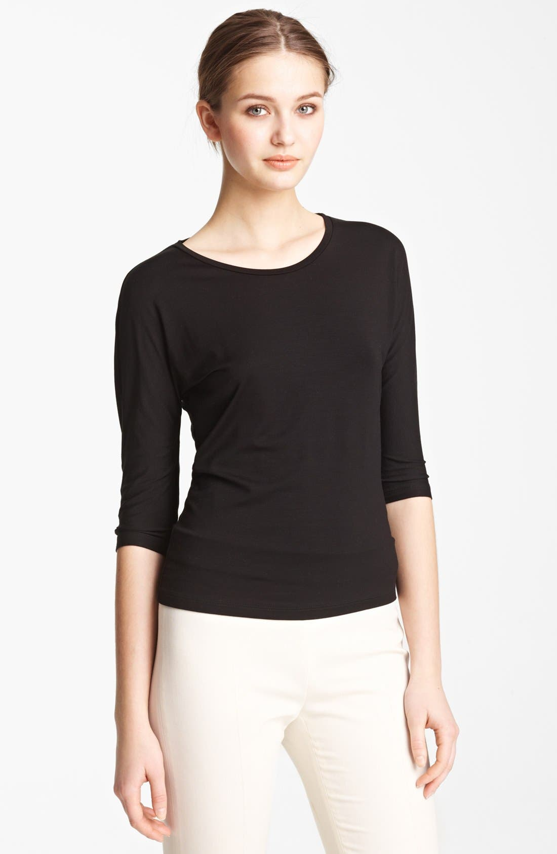 'Circe' Scoop Neck Jersey Tee, Main, color, 001