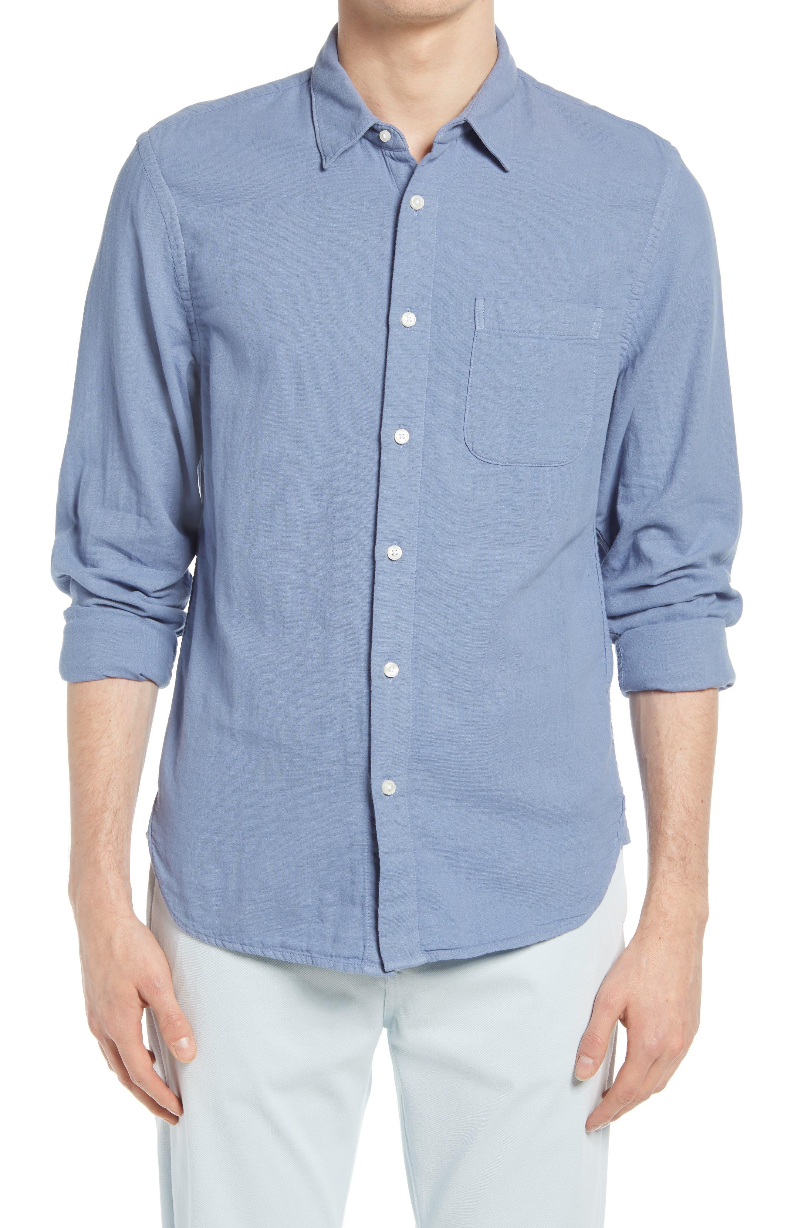 Trim Fit Solid Button-Up Shirt