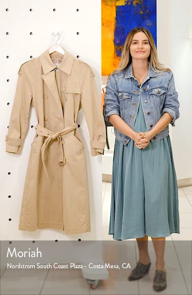 Stormi Water Repellent Trench Coat, sales video thumbnail