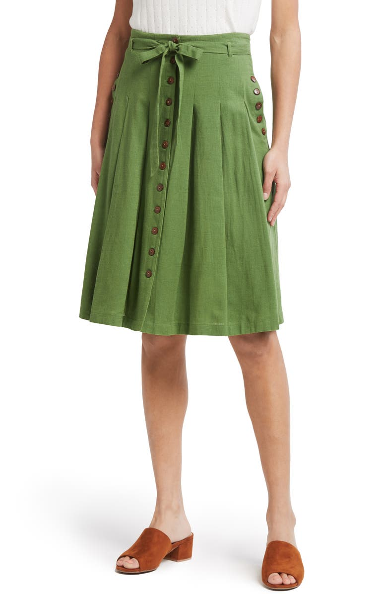 MODCLOTH Pleated A-Line, Main, color, 300