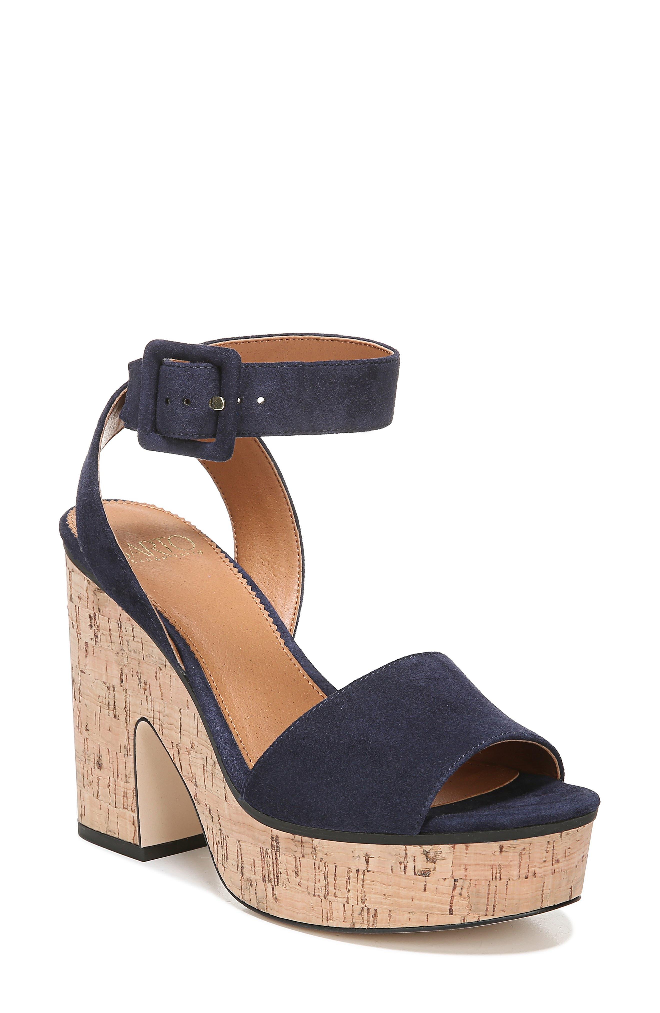 Sarto By Franco Sarto Franny Platform Sandal, Blue