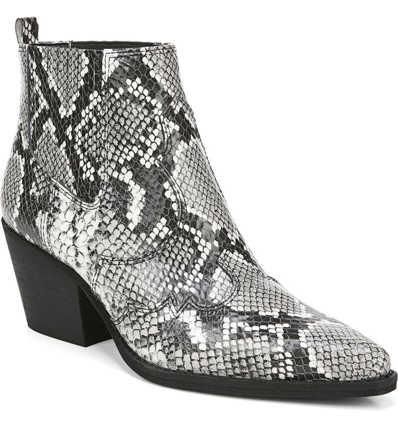 SAM EDELMAN Winona Bootie, Main, color, BLACK/ WHITE LEATHER