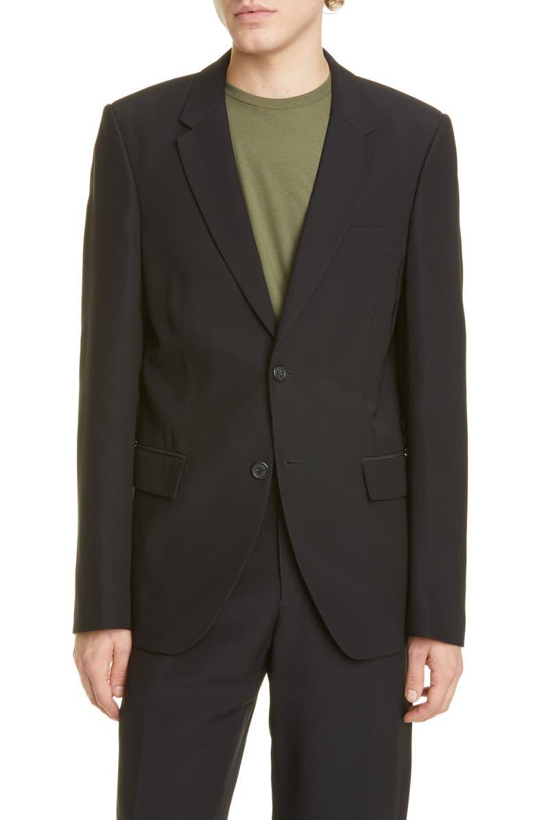 HELMUT LANG Slim Fit Solid Sport Coat, Main, color, BLACK