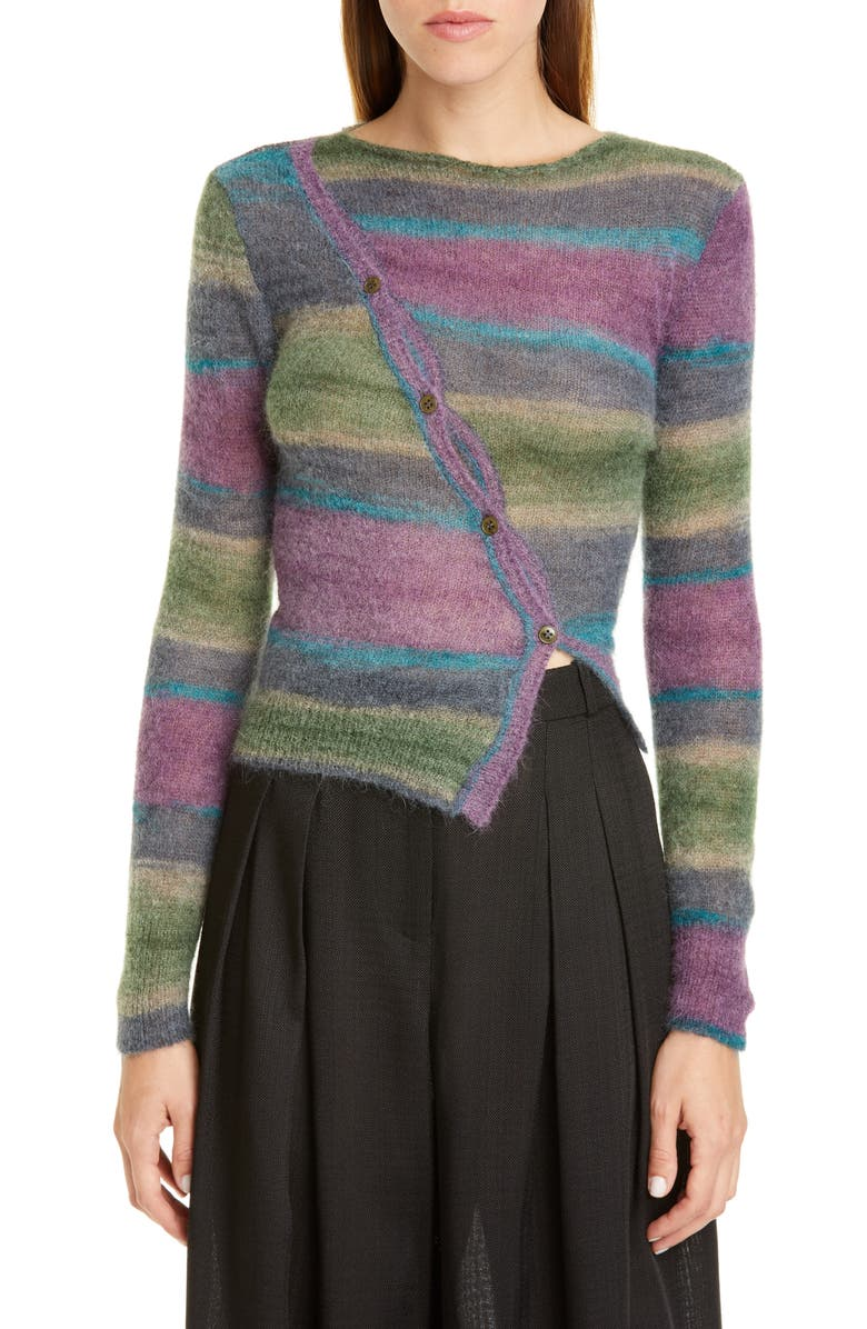 JACQUEMUS Pau Stripe Sweater, Main, color, STRIPE PURPLE