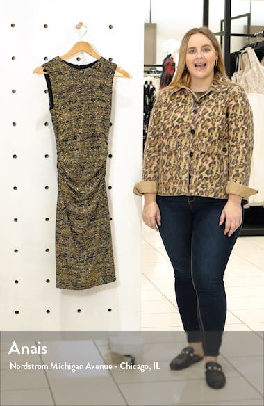 Metallic Jersey Midi Dress, sales video thumbnail