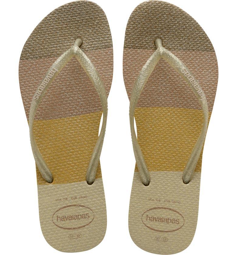 HAVAIANAS Slim Palette Flip Flop, Main, color, SAND GREY