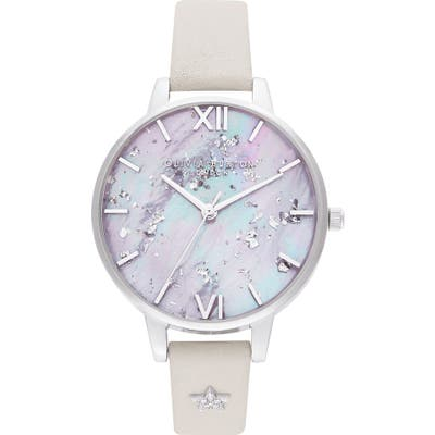 Olivia Burton Celestial Leather Strap Watch,