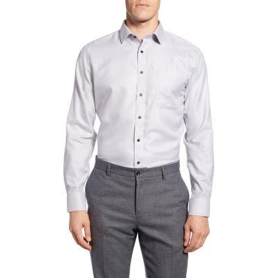 Nordstrom Shop Smartcare Trim Fit Chevron Dress Shirt, Grey