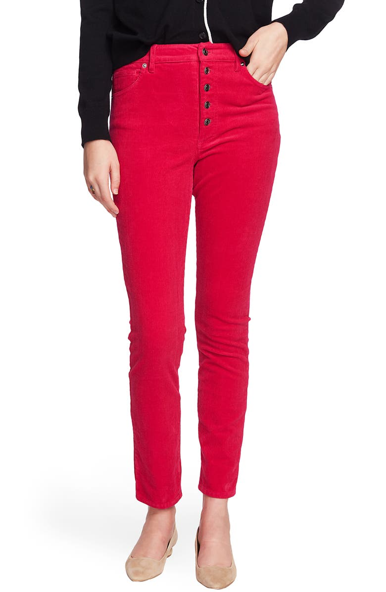 COURT & ROWE Button Front Corduroy Skinny Pants, Main, color, 685