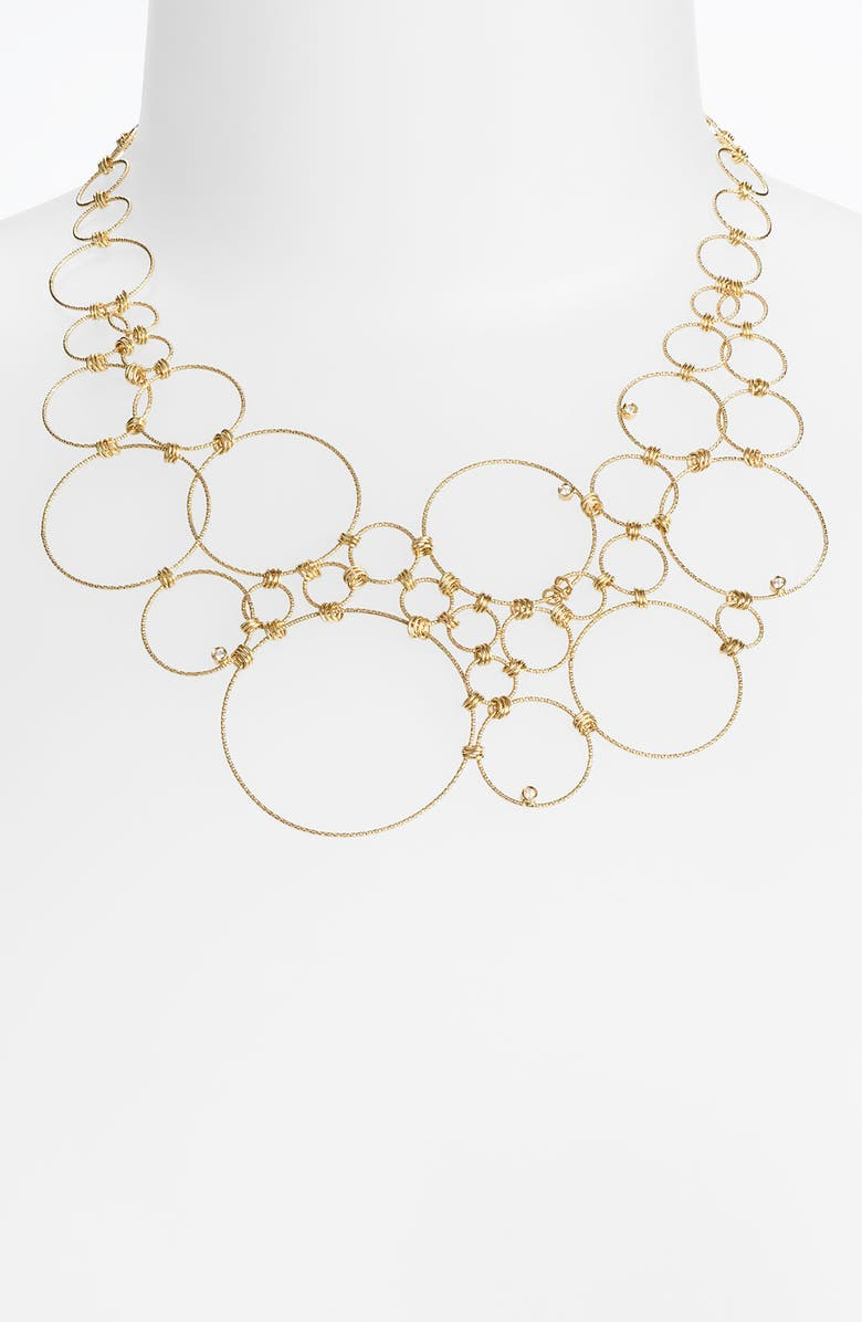 ROBERTO COIN Multi Circle Statement Necklace, Main, color, 710