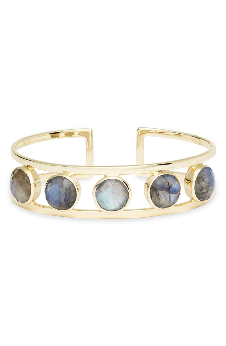 COLLECTIONS BY JOYA Jordan Freshwater Pearl Cuff, Main, color, LABRADORITE