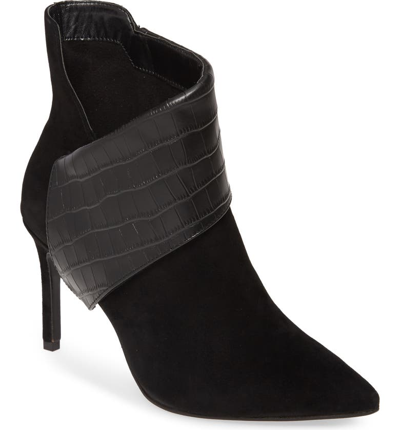CHARLES DAVID Deluxe Bootie, Main, color, BLACK CROC PRINT