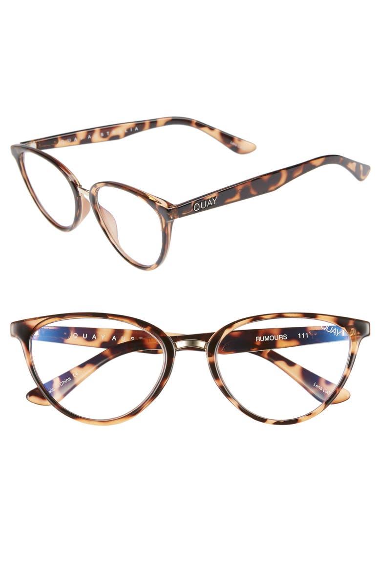 QUAY AUSTRALIA Rumors 57mm Sunglasses, Main, color, TORTOISE SHELL