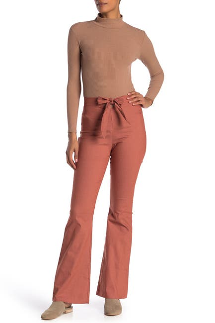 Image of EMORY PARK Bowtie Waist Flare Pants