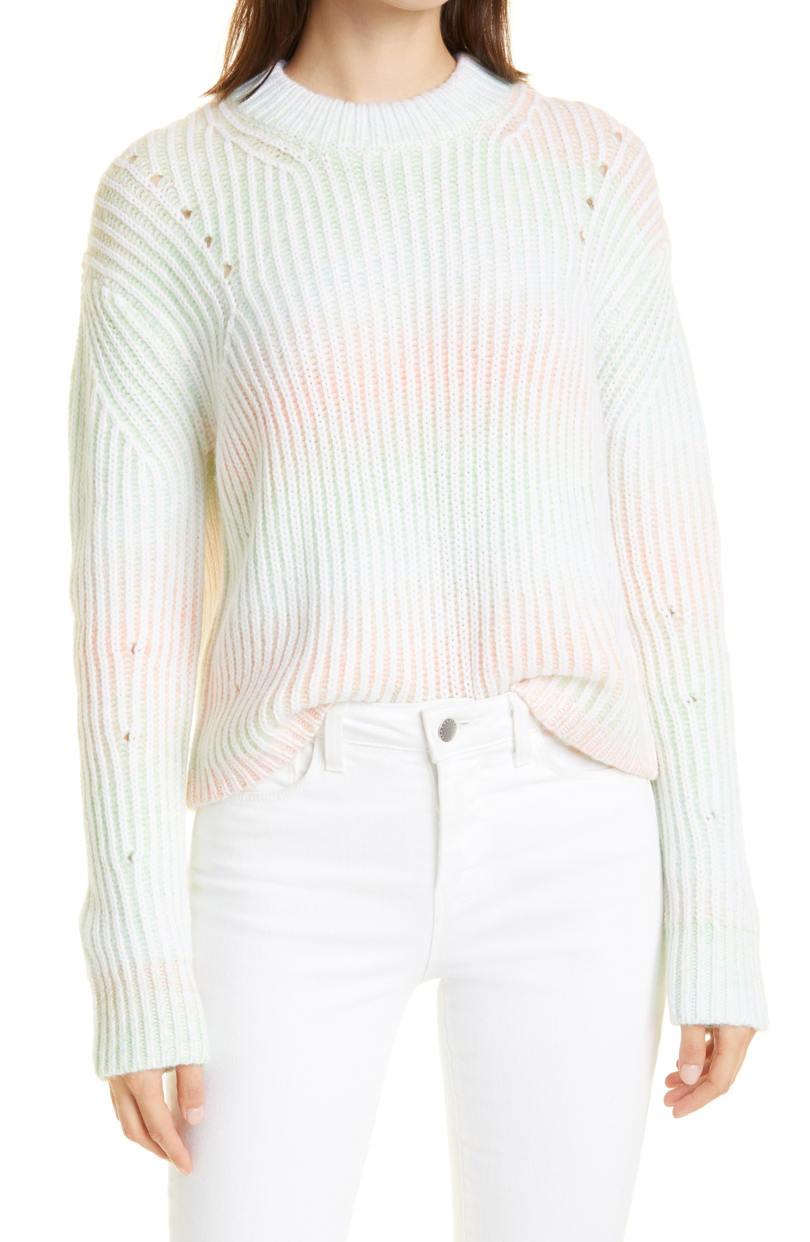 Rib Tie Dye Wool Blend Sweater