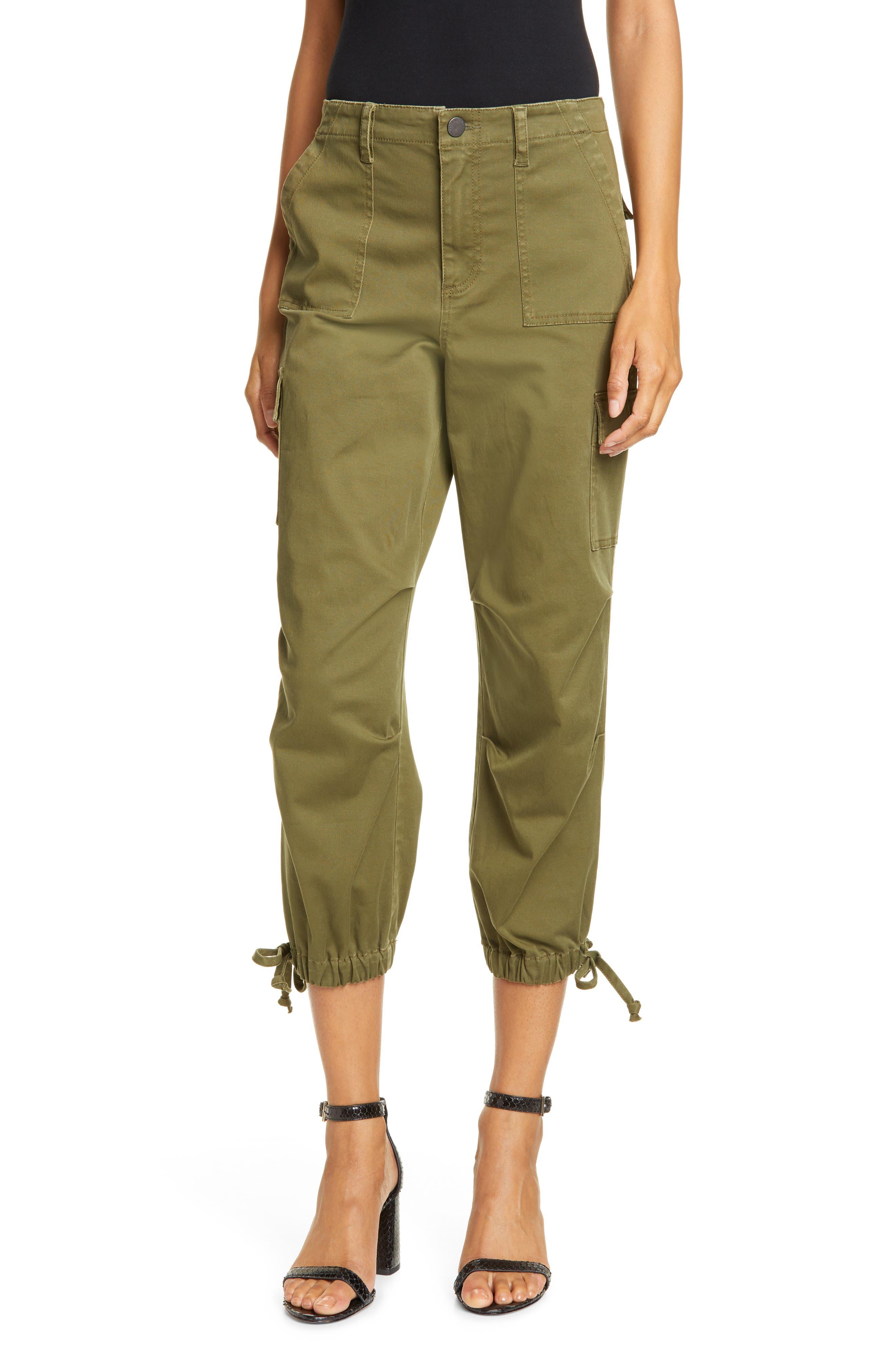 Alice + Olivia Crop Cargo Pants, Green