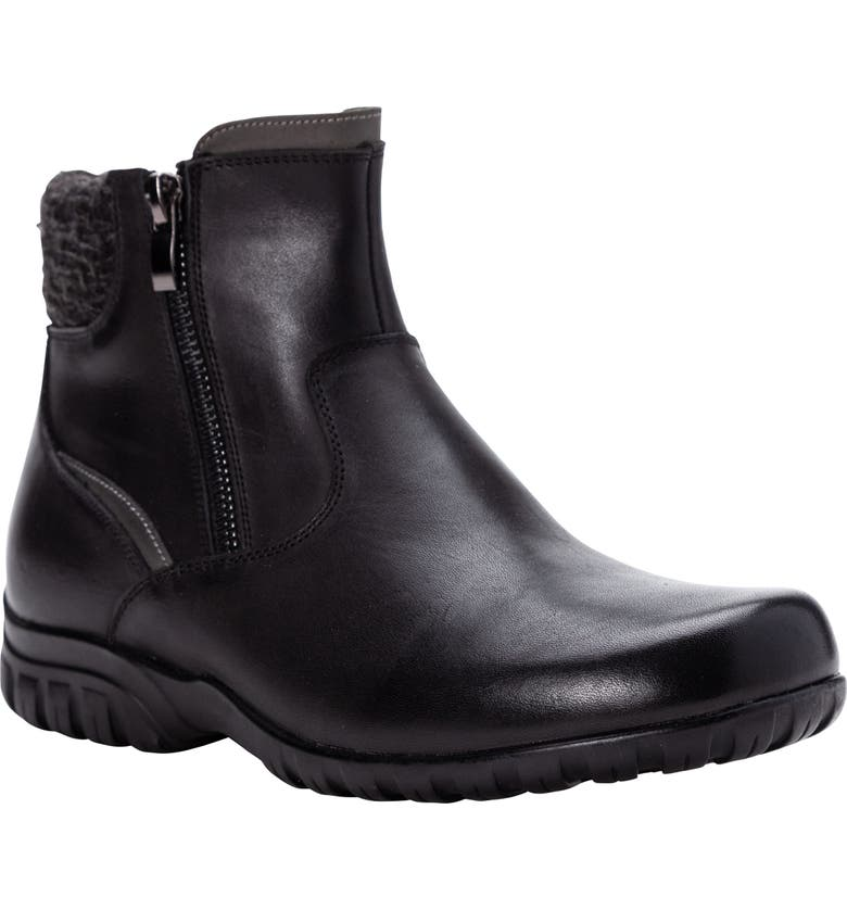 PROPÉT Darley Water Resistant Bootie, Main, color, BLACK LEATHER