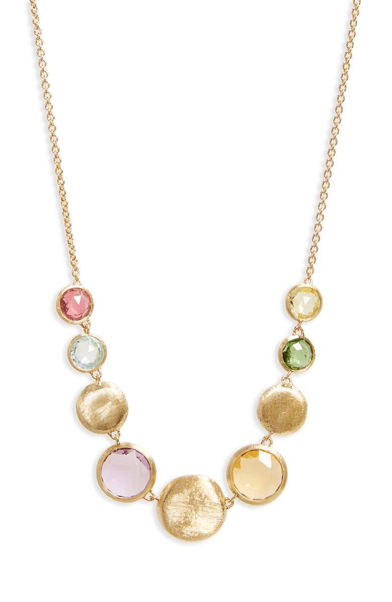 MARCO BICEGO Jaipur Semiprecious Stone Collar Necklace, Main, color, 710