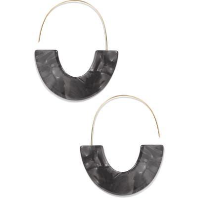 Baublebar Faidra Thin Drop Acrylic Oval Hoop Earrings
