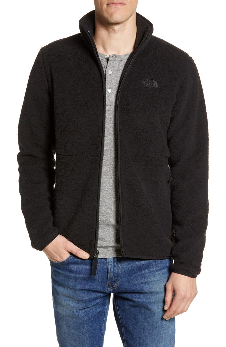 The North Face Men's Dunraven Sherpa Full-Zip Sweatshirt (Tnf Black)
