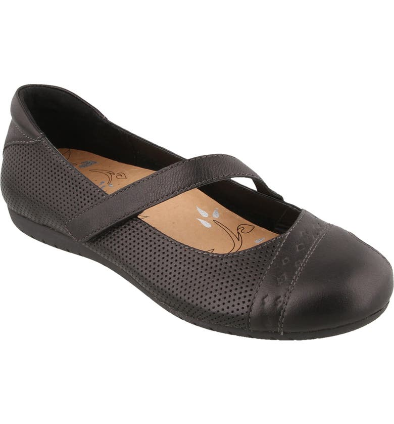 TAOS Scamp Mary Jane Flat, Main, color, BLACK LEATHER