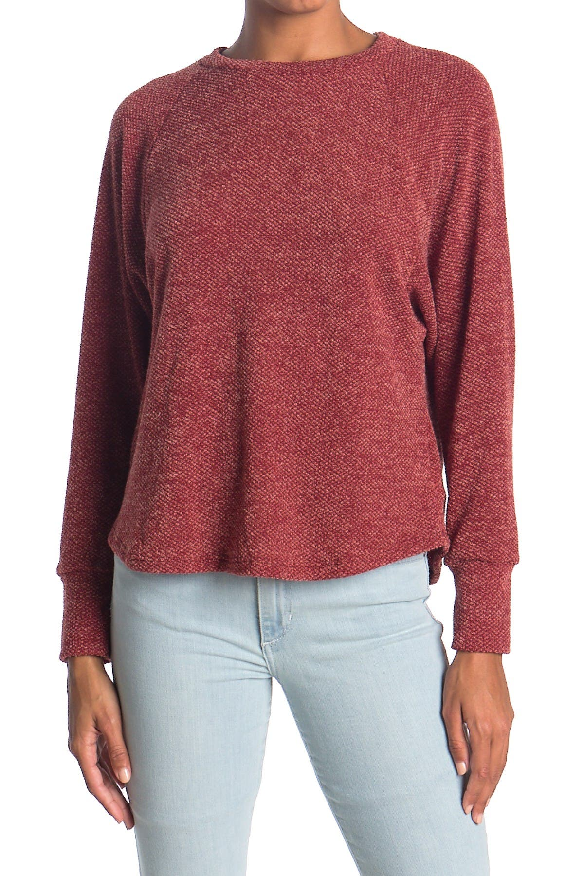 Image of Lush Round Neck Pullover Sweater