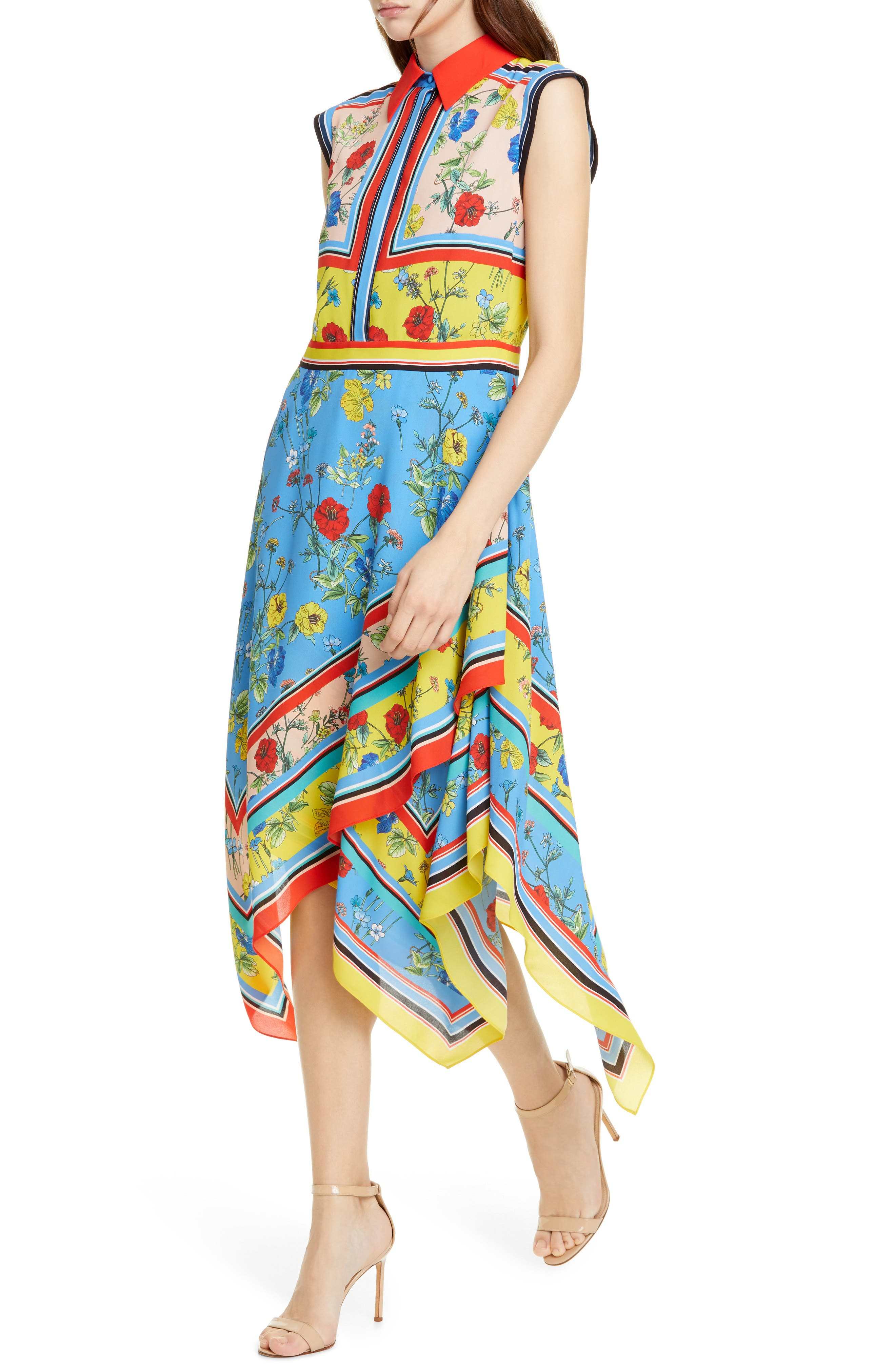 ,                             Farrah Handkerchief Dress,                             Alternate thumbnail 4, color,                             499