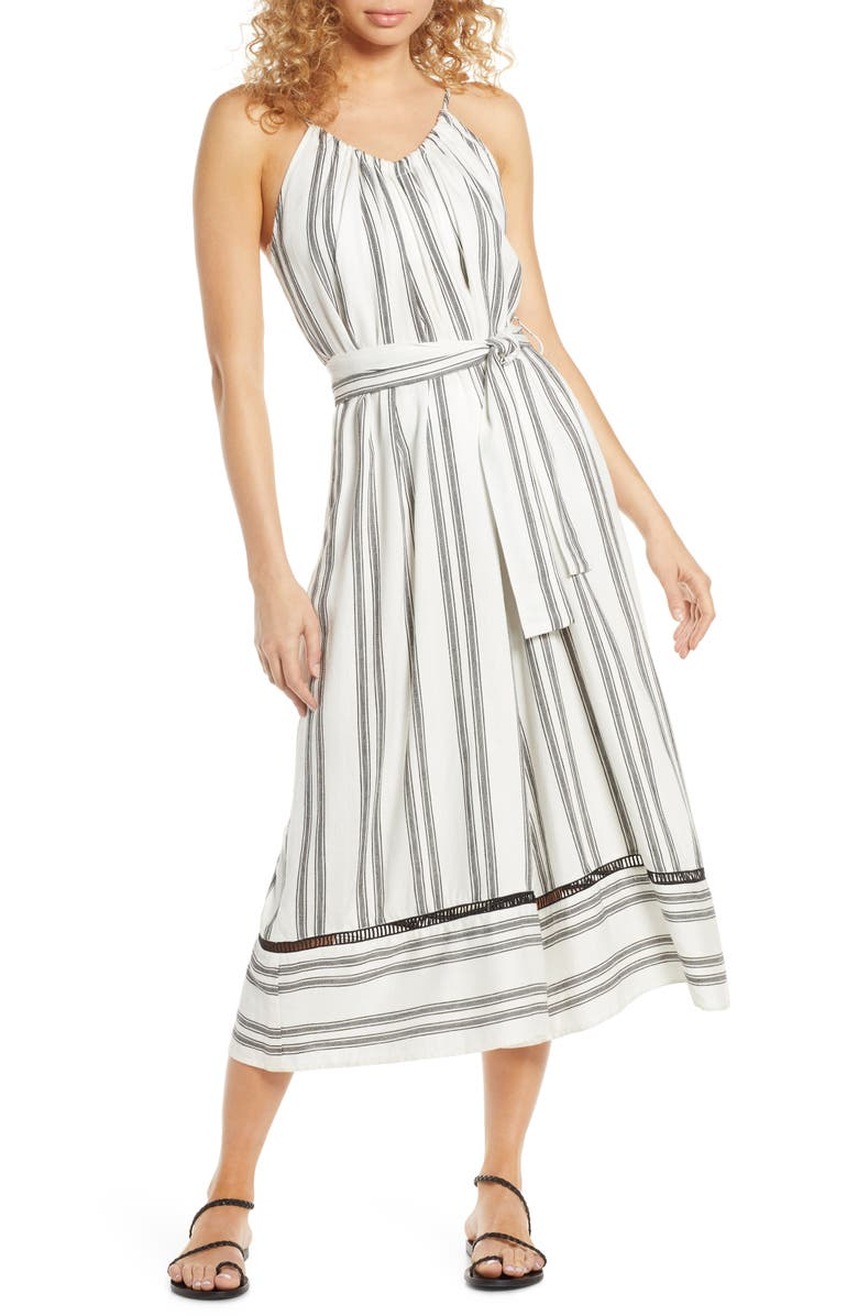 DOLCE VITA Scorpion Stripe Cover-Up Jumpsuit, Main, color, 100