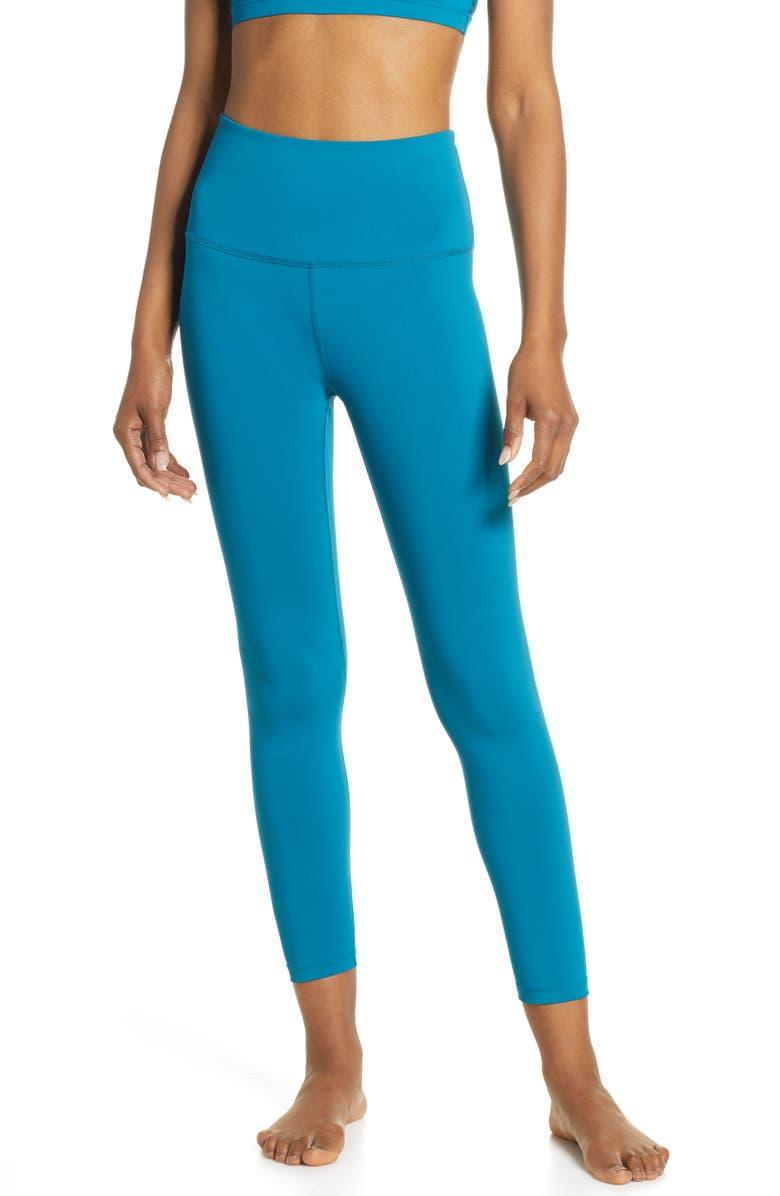 BEYOND YOGA Sportflex Midi High Waist Leggings, Main, color, BALI BLUE