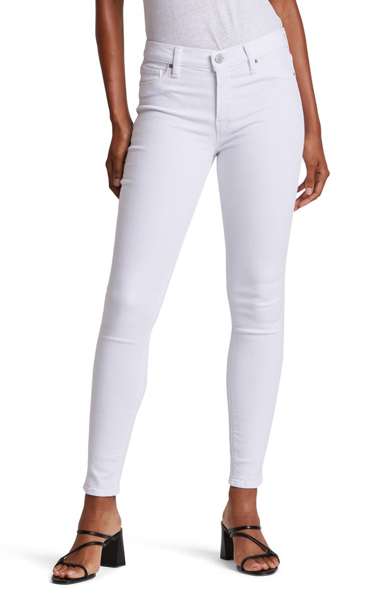 HUDSON JEANS Nico Ankle Skinny Jeans, Main, color, WHITE 2