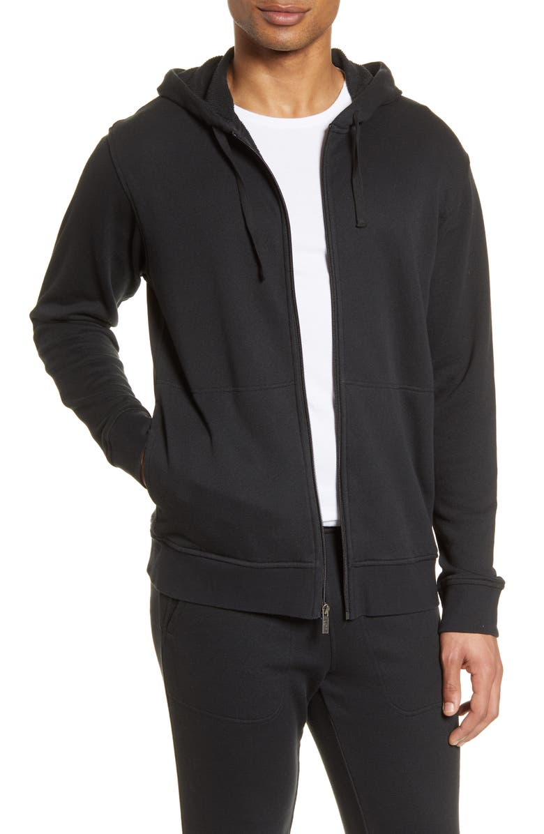 UGG<SUP>®</SUP> Gordon French Terry Zip Hoodie, Main, color, 001