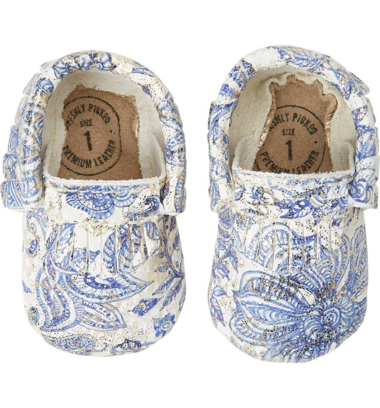 FRESHLY PICKED Paisley Glitter Moccasin, Main, color, PAISLEY