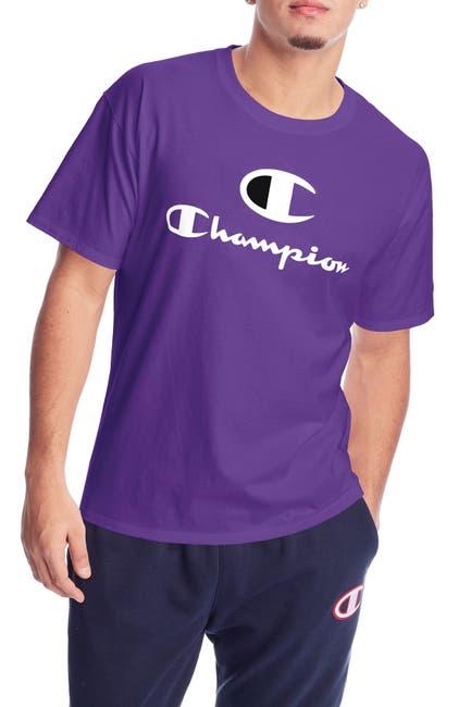 Image of Champion Short Sleeve Classic Logo Graphic T-Shirt