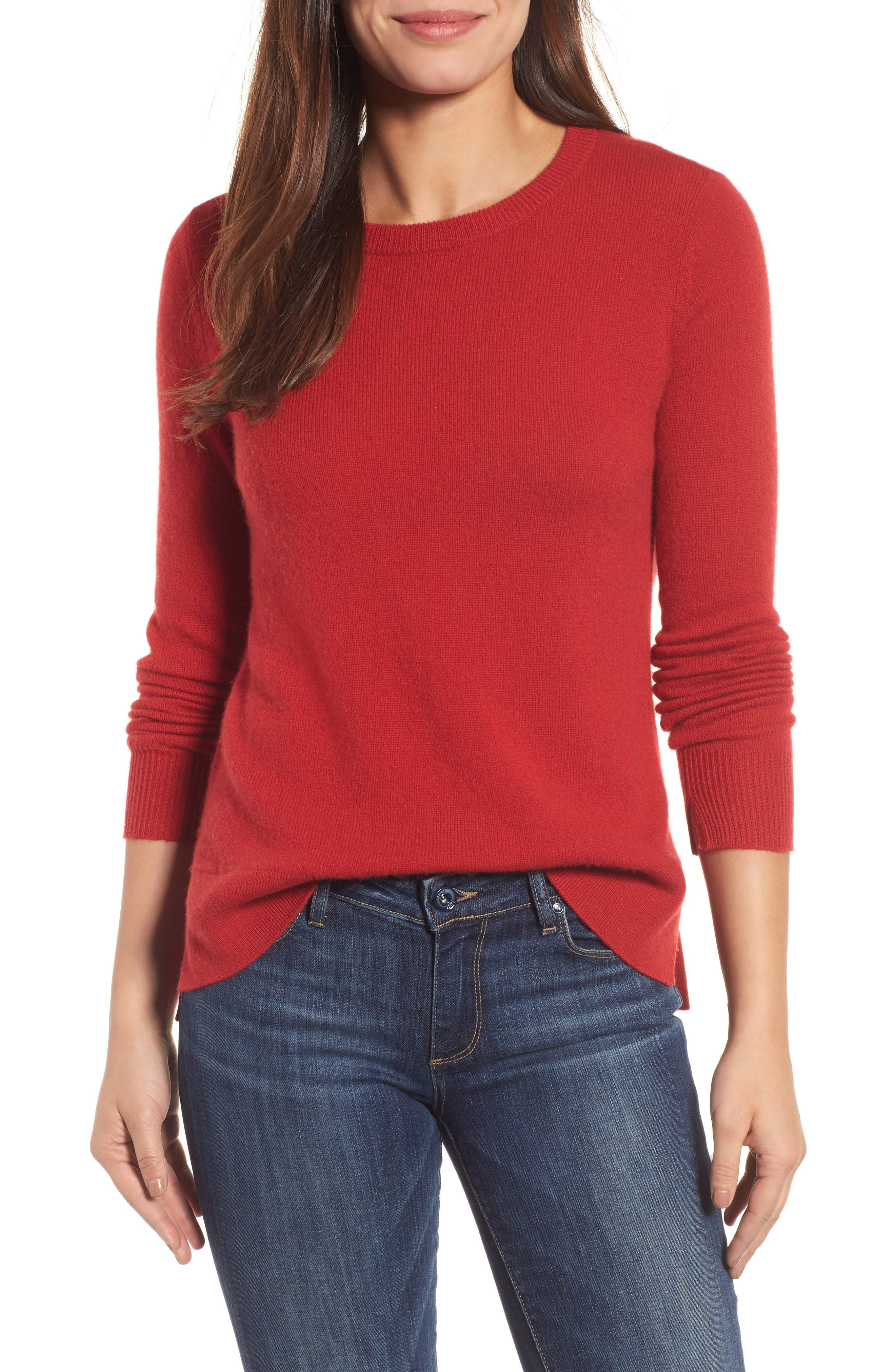 ,                             Crewneck Cashmere Sweater,                             Main thumbnail 134, color,                             600
