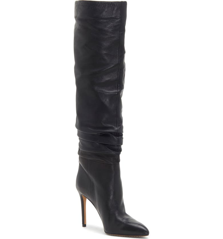 VINCE CAMUTO Kashiana Boot, Main, color, BLACK/BLACK LEATHER