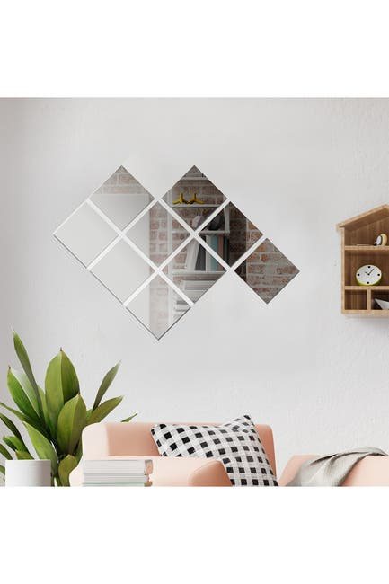 Image of WalPlus Square Mirror Wall Art - 9 Pieces