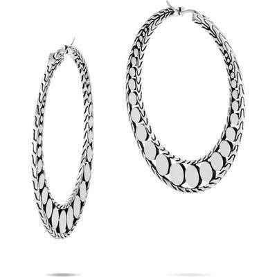 John Hardy Dot Silver Hoop Earrings