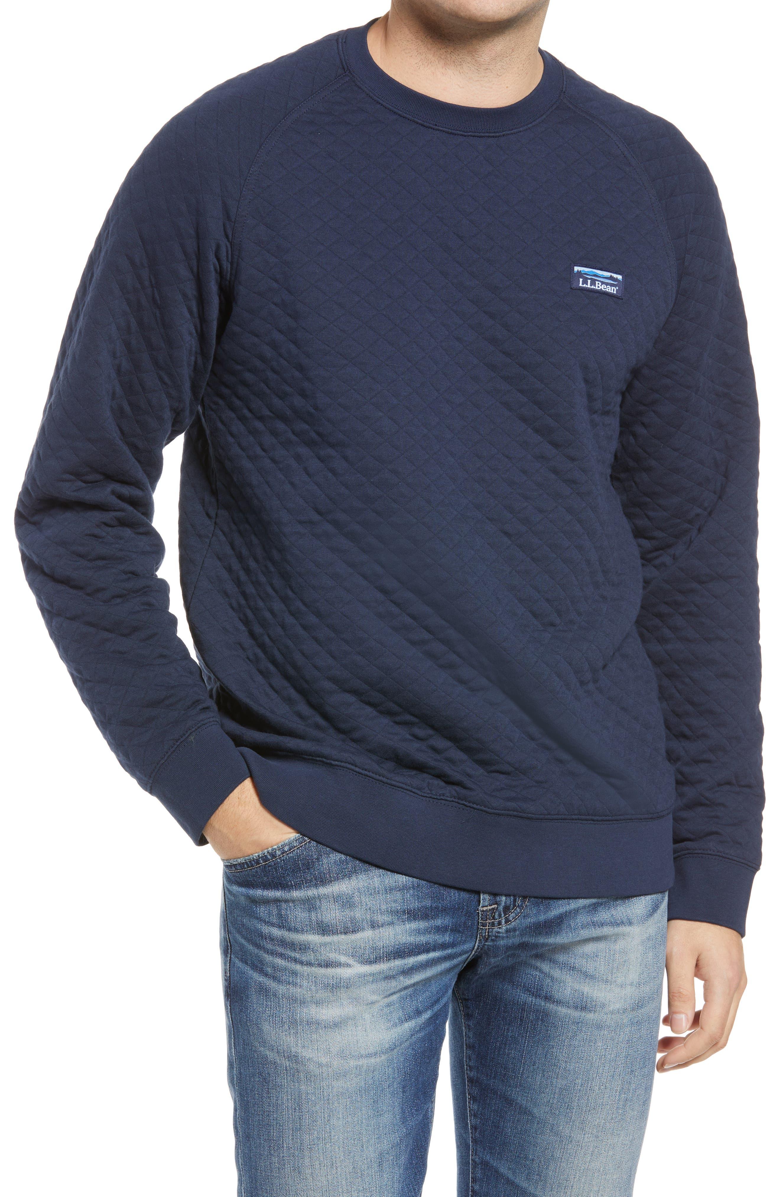 Men's Beans Quilted Crewneck Sweatshirt