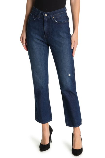 Image of BALDWIN Therese Lightly Distressed Straight Leg Jeans
