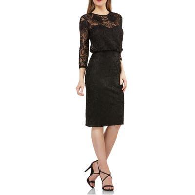 Js Collections Soutache Embroidered Blouson Dress, Black